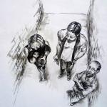 Reportérní vzpomínková kresba