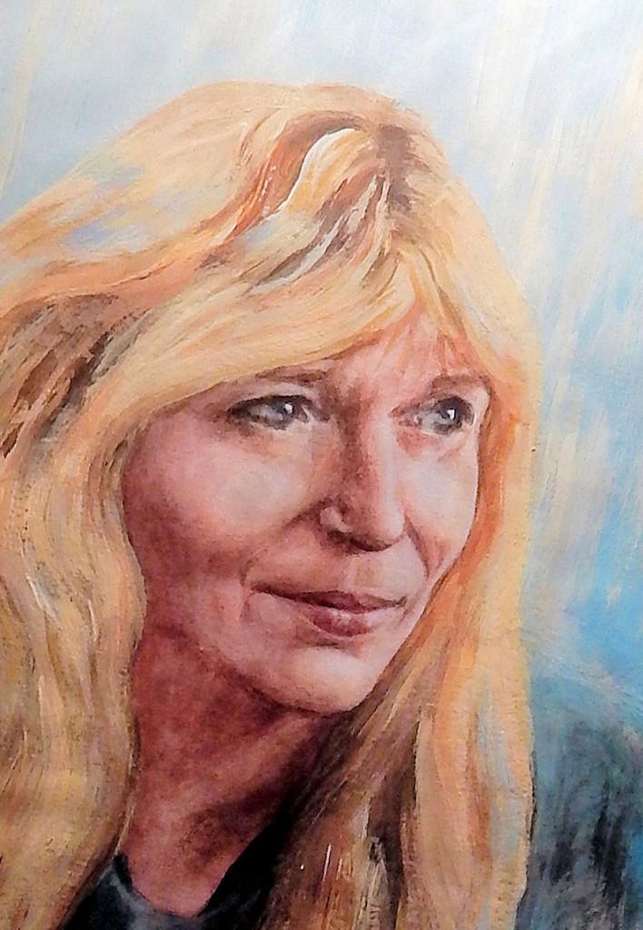 Portrét - akvarel