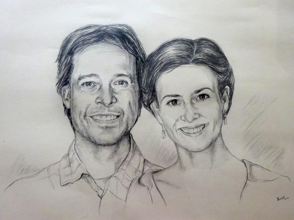Dvojportrét - tužka